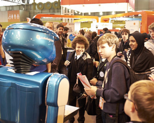 Promotional robot hire and rental, exhibition robot, Sellafield