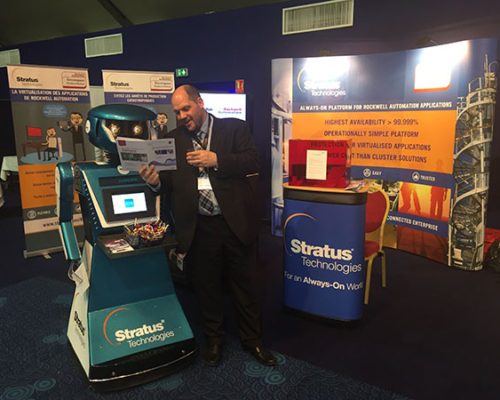 Promotional robot hire and rental, exhibition robot, Stratus