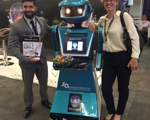 Promotional robot hire and rental, exhibition robot, Smart Assessor