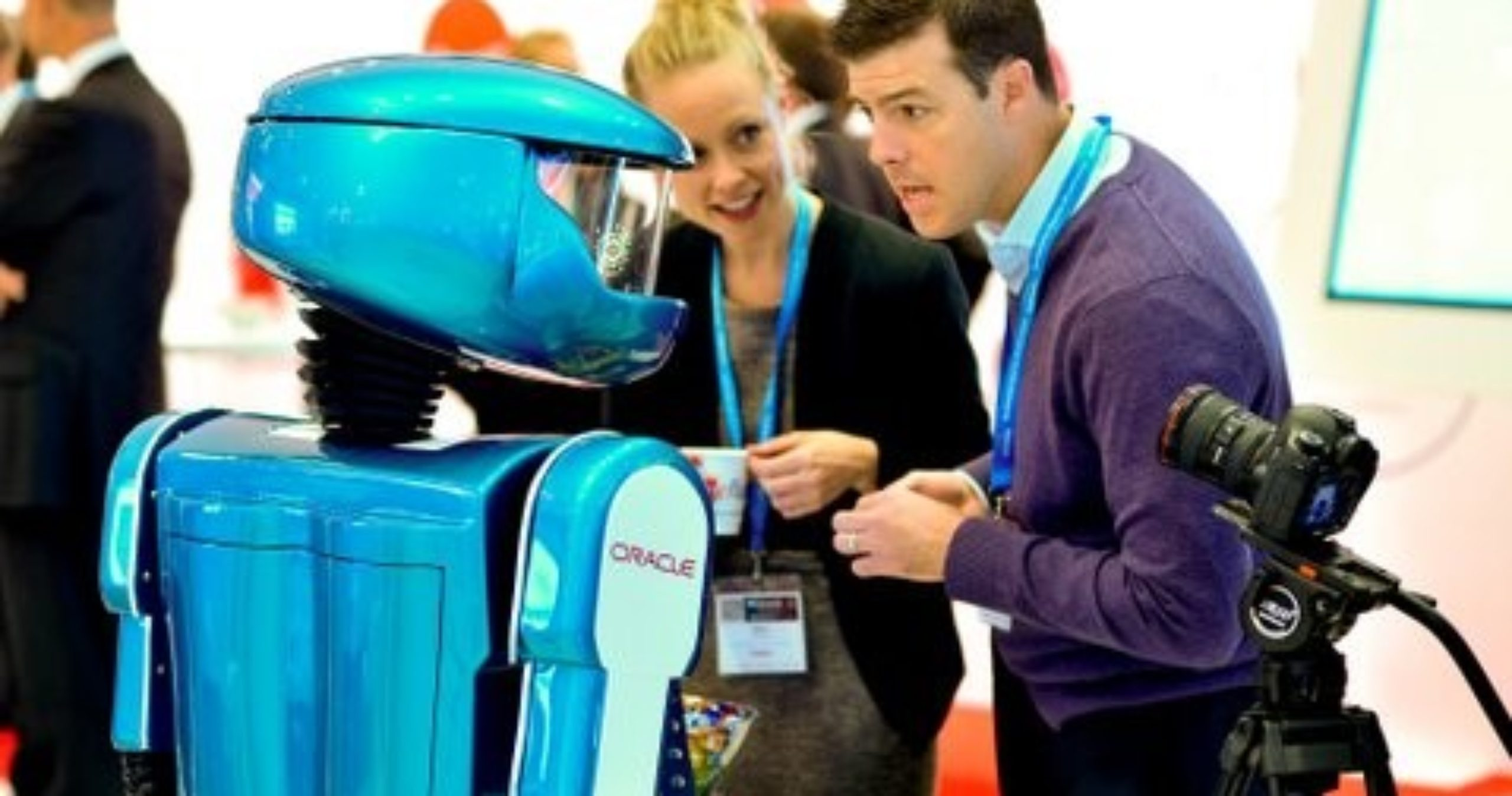Promotional robot hire, exhibition robot, Oracle