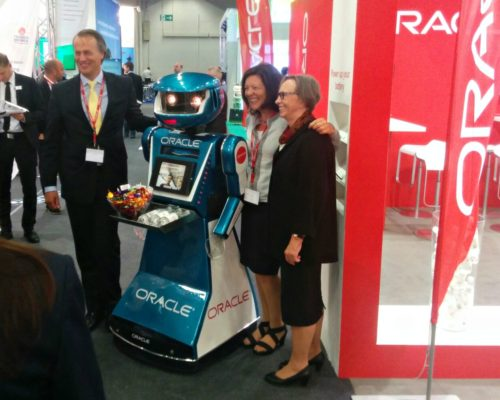 Promotional robot hire and rental, exhibition robot, Oracle